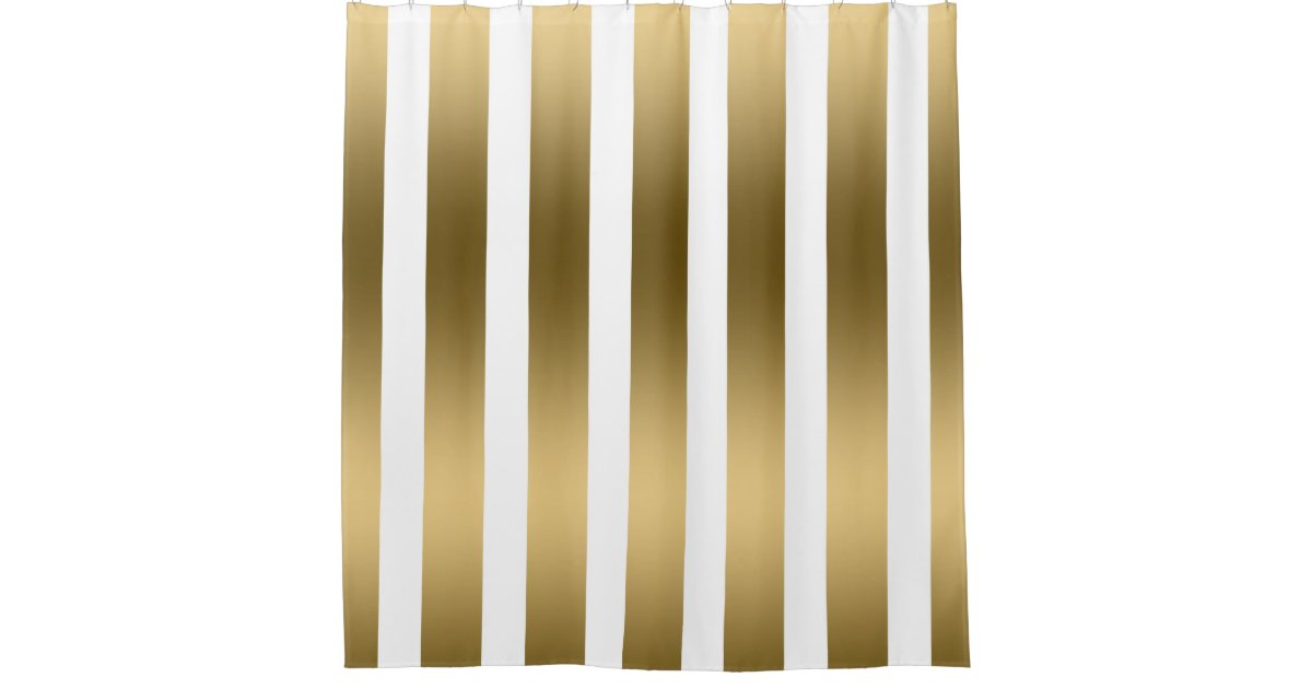Gold And White Striped Curtains