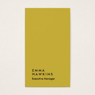 vertical gold color plain manager business card