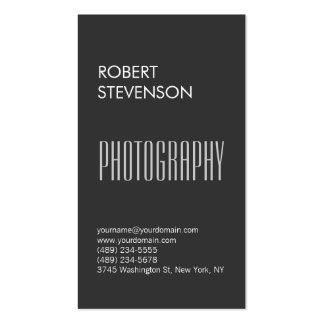Vertical Gray Contemporary Trendy Business Card