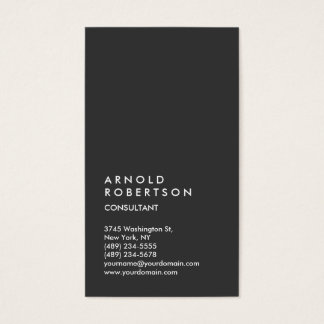Vertical Gray Trendy Consultant Business Card