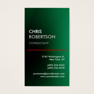 Vertical Green Red Line Attractive Business Card