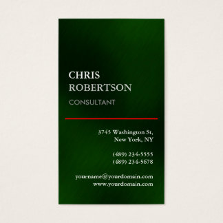 Vertical Green Stylish Attractive Business Card