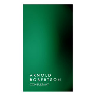 Vertical green unique professional business card