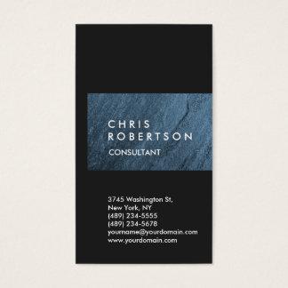 Vertical Grey Blue Wall Stripe Unique Business Card