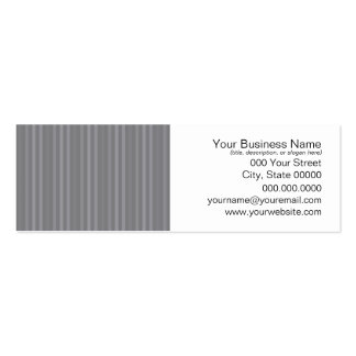 Vertical Grey Stripes Pattern Business Card Templates