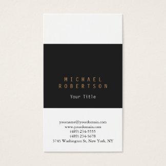 Vertical Grey White Plain Business Card