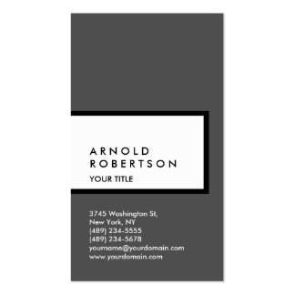 Vertical Grey White Professional Business Card