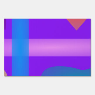 Vertical Horizontal Lines Various Forms Art Lawn Signs