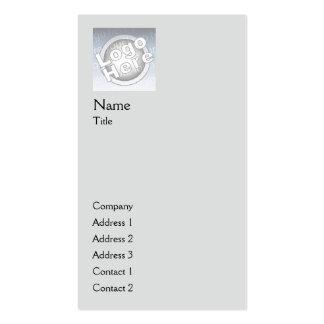 Vertical llana gris - negocio tarjetas de visita