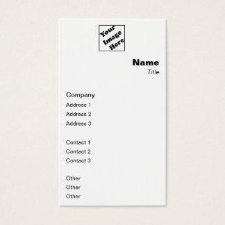 Vertical Logo Classic Business Card