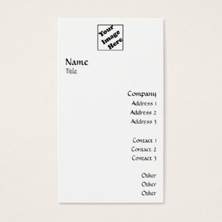 Vertical Logo Smooth 2 Business Card