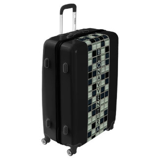Vertical Name on Crossword Squares Luggage