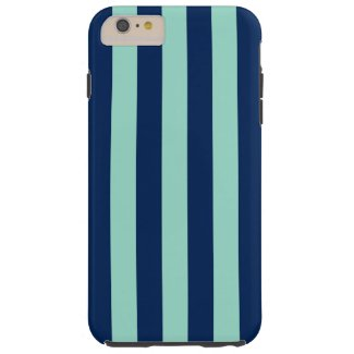 Vertical Navy and Light Green Stripes