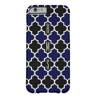 Vertical Navy Blue and Black Monogram iPhone6 Case Barely There iPhone 6 Case