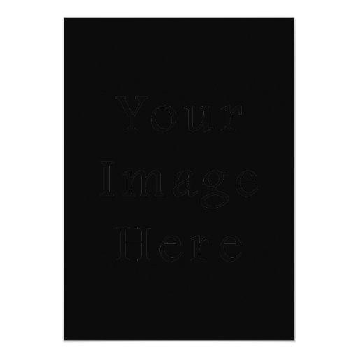 Vertical negra de la invitación 5X7 - tarjeta