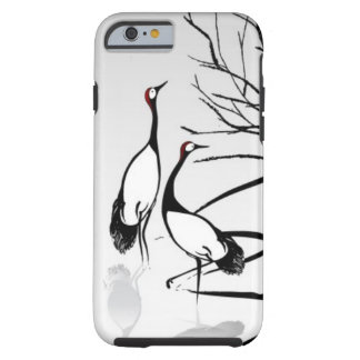 Vertical Oriental Scroll Tough iPhone 6 Case