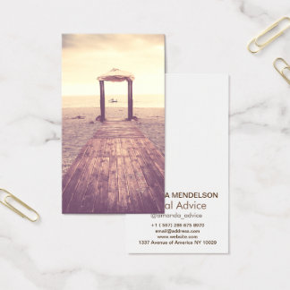 Vertical overlay photography template business card