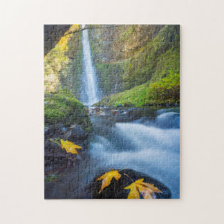 Vertical panorama view of Tunnel Falls Jigsaw Puzzle
