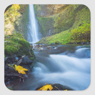 Vertical panorama view of Tunnel Falls Square Sticker