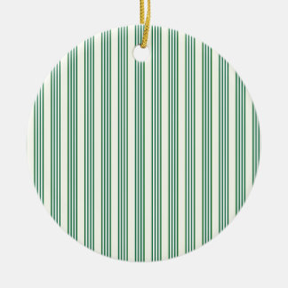 vertical parallel lines background green stripes ceramic ornament
