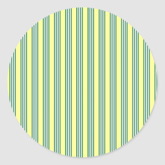vertical parallel lines background green stripes classic round sticker