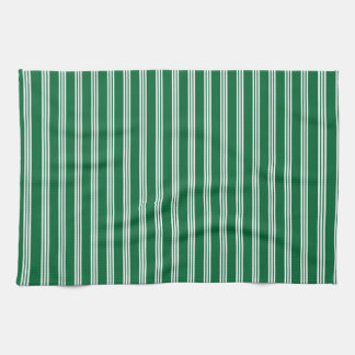 vertical parallel lines background green stripes hand towel