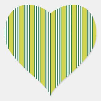 vertical parallel lines background green stripes heart sticker