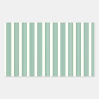 vertical parallel lines background green stripes rectangular sticker