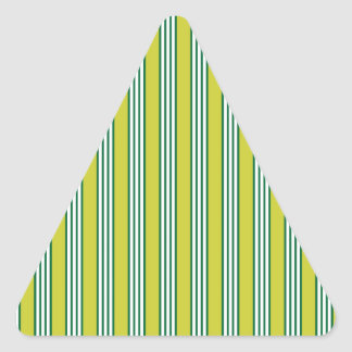 vertical parallel lines background green stripes triangle sticker