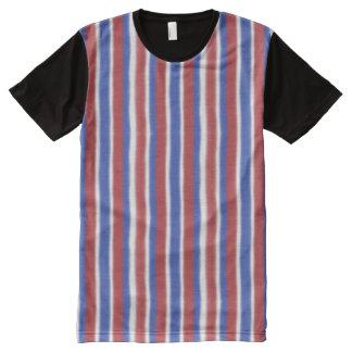 Vertical Patriotic Stripes All-Over Print T-shirt