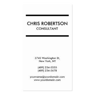 Vertical Plain Black & White Business Card