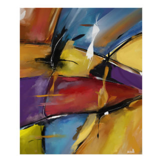 """Vertical poster extra large model """"Abstract 1509 """""""
