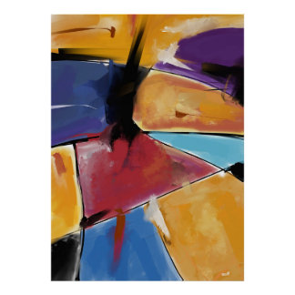 """Vertical poster large model """"Abstract 1445 """""""