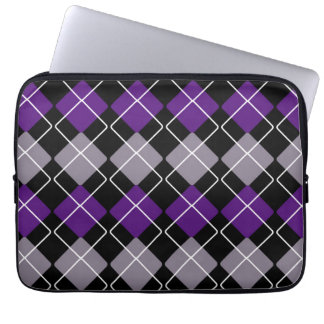 Vertical Purple Argyle Computer Sleeve