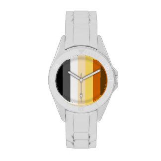 VERTICAL RAYADA del ORGULLO del OSO - 2014 Relojes