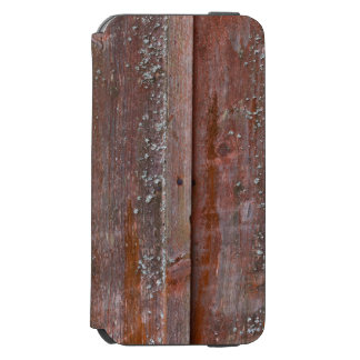 Vertical red plank wall with mold iPhone 6/6s wallet case