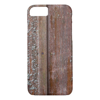 Vertical red plank wall with mold iPhone 8/7 case