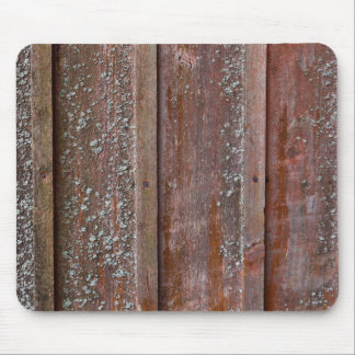 Vertical red plank wall with mold mouse pad
