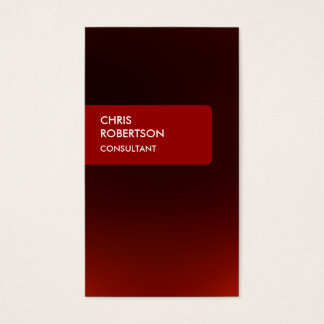 Vertical Red Stripe Attractive Charm Business Card