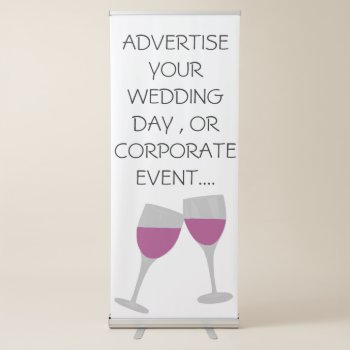 Vertical Retractable Banner by CREATIVEWEDDING at Zazzle