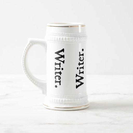Vertical Reversal Writer. Coffee Mugs