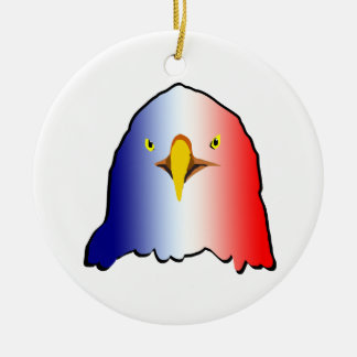 vertical roja blanca azul del águila adorno redondo de cerámica