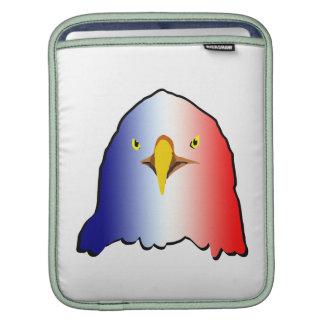 vertical roja blanca azul del águila manga de iPad