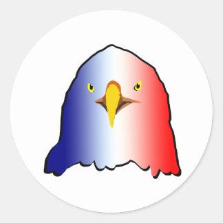 vertical roja blanca azul del águila pegatina redonda