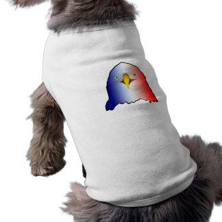 vertical roja blanca azul del águila playera sin mangas para perro