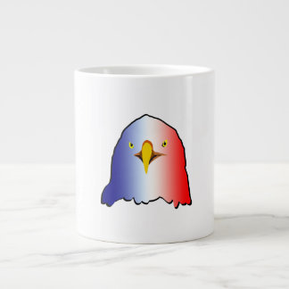 vertical roja blanca azul del águila taza grande