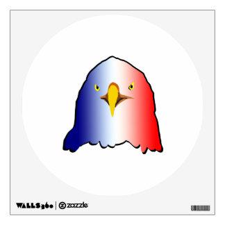 vertical roja blanca azul del águila vinilo