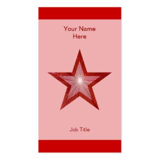 Vertical roja de la raya del rosa de la tarjeta de tarjetas de negocios