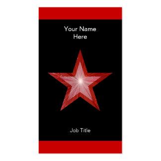 Vertical roja de la raya negra de la tarjeta de vi plantillas de tarjeta de negocio
