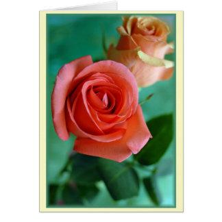 """Vertical Roses"" Card"